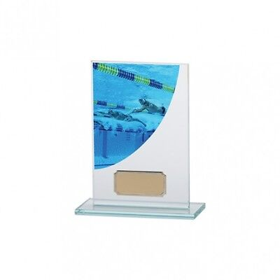 GLASS DOMINOES TROPHY Colour Curve Award FREE LUXURY ENGRAVING * CR4623