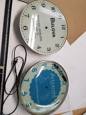 2  Vintage Back lighted Pam Clocks for parts