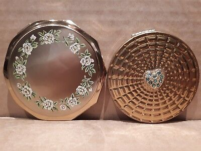 Lovely Stratton & Margaret Rose Compacts Made in England