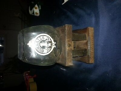 Knock On Wood Corp Vintage Wooden Glass One Cent Gumball Machine