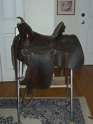 AMAZING vintage collectable R.T. Frazier Western Saddle VERY DEEP seat LOOK!