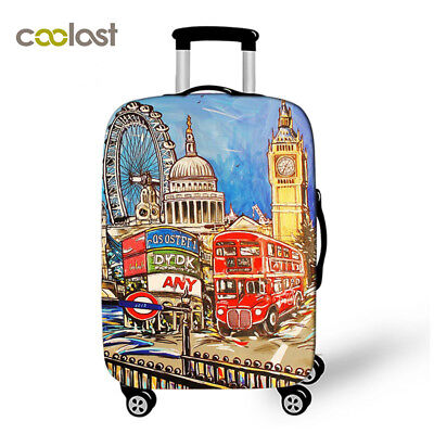 Coolost 3D Print Design Travel Luggage Suitcase Protector Trolley Case Cover