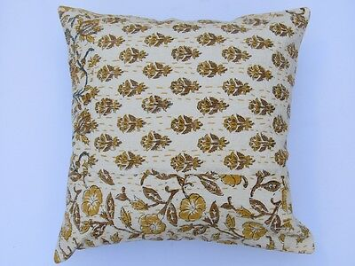 "16""hand Block Printed Indian 100% Cotton Patchwork Kantha Cushion Cover 5 Pc Lot"