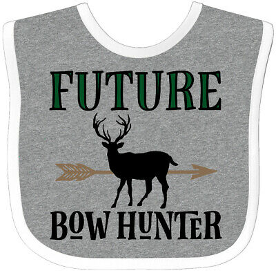 Inktastic Hunting Future Bow Hunter Baby Bib Gift Deer Clothing Childs Boys Hws