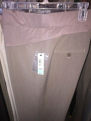 New Small DUO Maternity Career Dress Pants Cocoa Heather Wide Leg Regular $44.00