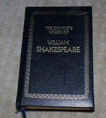 The Complete Works of William Shakespeare Leather Bond Longmeadow Press