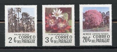 Paraguay 1977 Shrubs And Trees, Paraguay Flora, Mnh Set Of 3 Stamps.