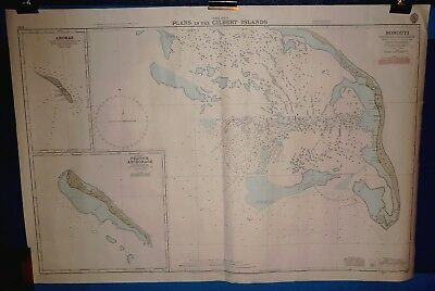 Four Large Vintage Admiralty Charts - Pacific Ocean