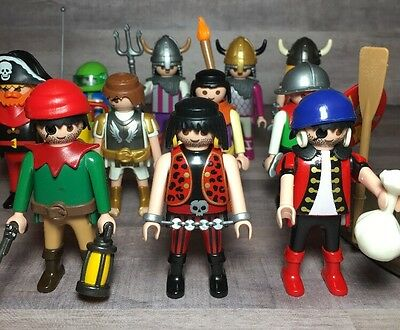 Playmobil PEOPLE Mixed Pirate Viking Go Kart ETC Lot Of 15 AWESOME + EXTRAS