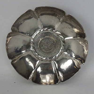 1893 Peru Coin Mounted In Sterling SIlver Dish Bowl