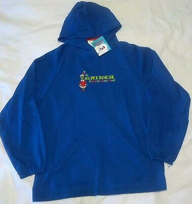 Dr Seuss How The Grinch Stole Christmas Hooded Sweatshirt Nwt Small New/tags  B
