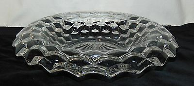 "Fostoria AMERICAN CRYSTAL *11 1/2"" ROLLED EDGE BOWL*"