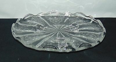 "Fostoria NAVARRE CRYSTAL *8"" 3- FOOTED TIDBIT*"