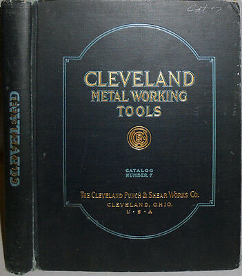 -Huge- Early -Cleveland Metal Working Tools- Industrial Punch/Shear/Die Catalog