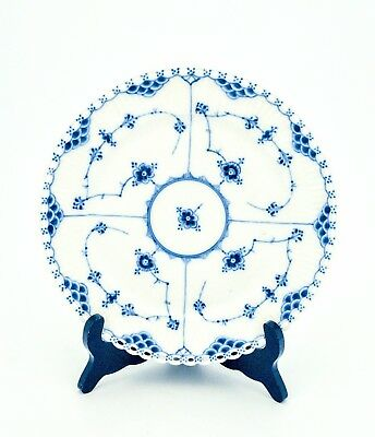 Cake Plate #1090 - Blue Fluted Royal Copenhagen - Full Lace - 1st Quality