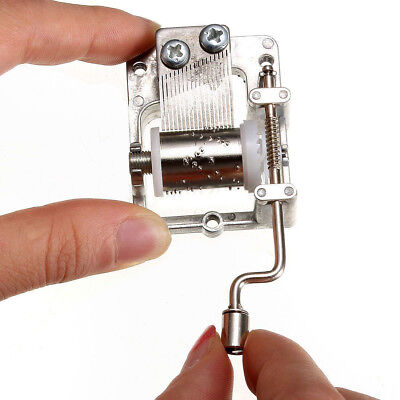 Mechanical DIY Hand Crank Music Box Movement Harry Potter Hedwig Game of Thrones