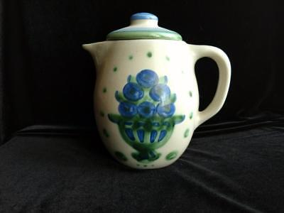 M.A. Hadley Hand Painted Country Blueberries Teapot with Lid - SIGNED