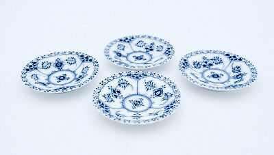 4 Small dishes #1004 - Blue Fluted - Royal Copenhagen - Full Lace - 1st Quality