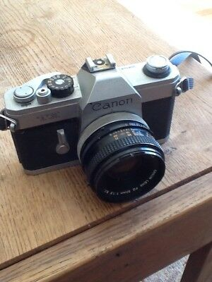 Vintage Cannon TX 35mm Camera With Cannon Fad 50mm 1:1.8 Lens