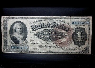 1886 $1 Silver Certificate ✪ Vf Very Fine ✪ Large Brown Seal Fr 244 ◢Trusted◣