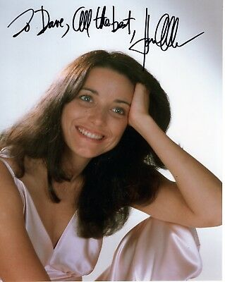 KAREN ALLEN HAND SIGNED 8x10 COLOR PHOTO+COA    RAIDERS OF THE LOST ARK  TO DAVE