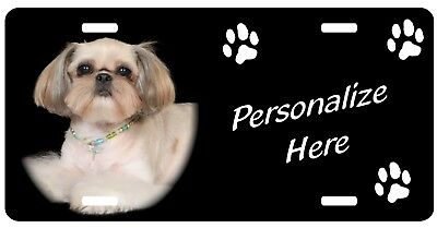 Shih Tzu    #4   Personalized    Automobile  License Plate