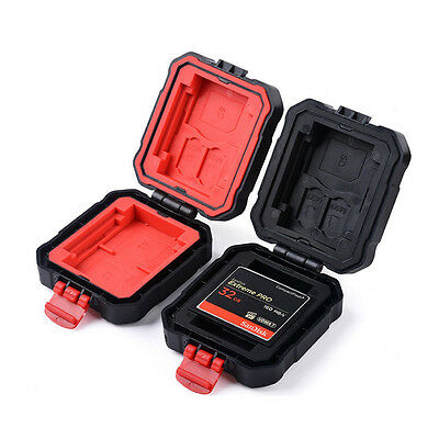 Waterproof Memory Card Storage Carrying Case Holder Wallet For CF/SD/SDHC/MS/DS