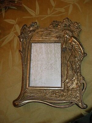 Art Nouveau antique metal picture frame
