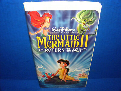Little Mermaid II, The: Return to the Sea (VHS, 2000) Complete in Clamshell 2780