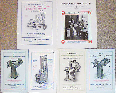 -Rare- Early -Production Machine Co.- Industrial Metalworking Trade Catalog Lot