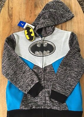 Nwt Kids' Batman Hoodie With Removable Cape, 7, Blue Black Gift for boys warm