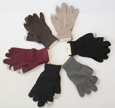 NWT Unisex Adult John Kent Knit Magic Touch Screen Wrist Gloves Acrylic OSFA