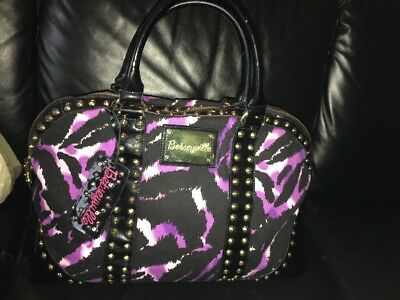 BETSEYVILLE by Betsey Johnson Tiger Striped Studded Overnight Tote Bag Large
