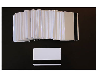 Magnetic Strip Cards, Lot of 100, White