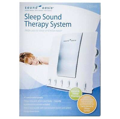 Sound Oasis S-550-05 Sleep Sound Therapy System 6 Nature Sounds & White Noise