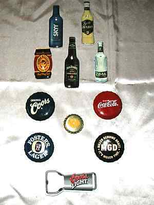 Lighted Beer Lapel Pins-New 10 Different +Coca Cola Pin-Great Collection