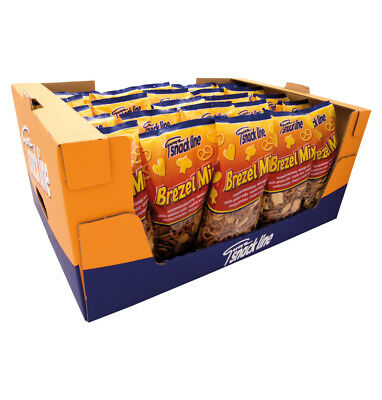 Snackline Mini Brezel Salzbrezel & Cracker Mix – Laugengebäck 25 x 300g = 7,5kg