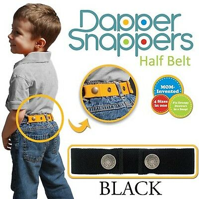 Dapper Snapper Made in USA Original Toddler Adjustable Belt-Black