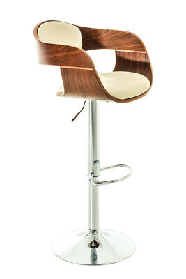 #HBM34934 Barhocker Kingston walnuss creme Thekenhocker Tresenhocker Barstuhl