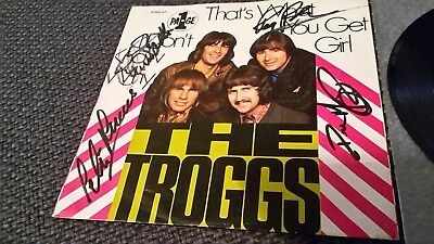 """THE TROGGS: That's What You Get Girl - 7"""" Single 1969, Hülle 4fach SIGNIERT!"""