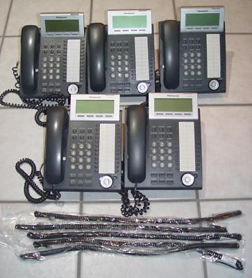 Lot Of 5 Panasonic Kx-Nt346-B, Voip 24 Button, Display Speakerphone, Fantastic