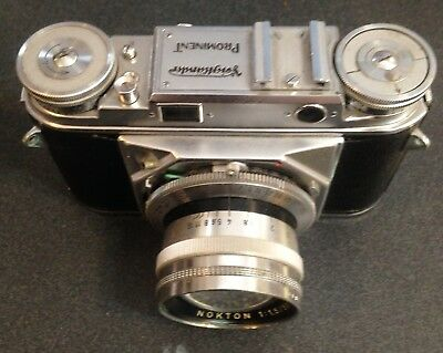 Voigtlander Prominent camera body with 3 lenses, Turnit viewfinder