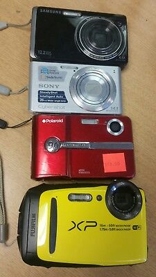 Lot of Digital Cameras Samsung, Sony, Polaroid, Fujifilm AS IS