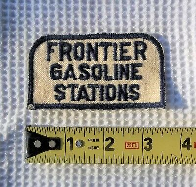 Vintage Frontier Gas Stations Uniform Patch    Not Mobil, Texaco, Or Phillips.