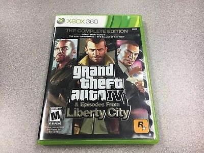 Xbox 360 Grand Theft Auto IV 4 & Episodes from Liberty City Video Game Complete