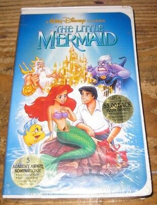 The Little Mermaid Disney Limited Black Diamond Very Rare BANNED (VHS 1990)