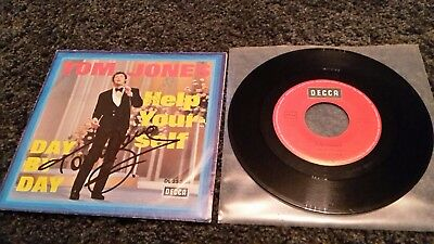"""TOM JONES: Help Yourself / Day By Day - 7"""" Single 1968, Hülle SIGNIERT!"""