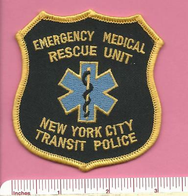 New York City Transit Law Enforcement NYC Police Medical Rescue Shoulder Patch