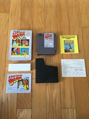 A BOY AND HIS BLOB NES Nintendo game Cib Complete In Box Excellent Condition