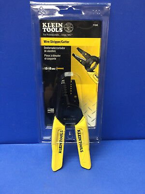 New Klein Tools Model 11045  Wire Stripper Cutter With Yellow  Cushion Grip Usa